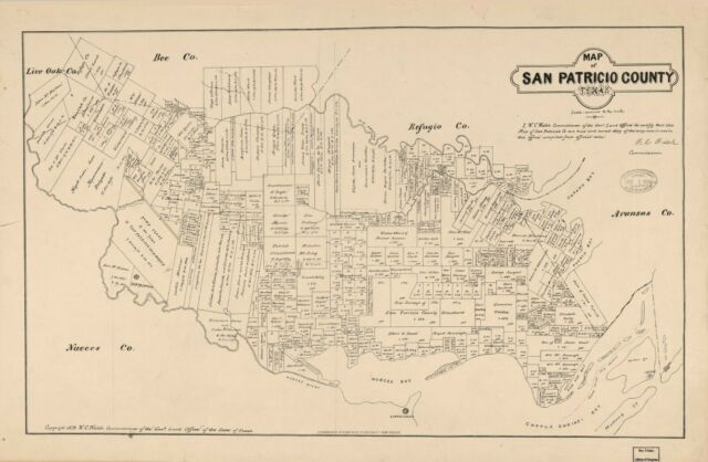 """18/"""" x 24/"""" 1879 Map Of Concho County Texas Landowners Real Property"""