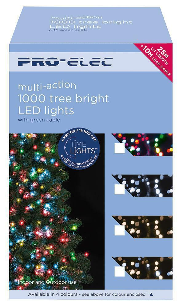 1000 LED bianco bianco bianco caldo Indoor & Outdoor Luci di Natale treebrights funzione timer c917da