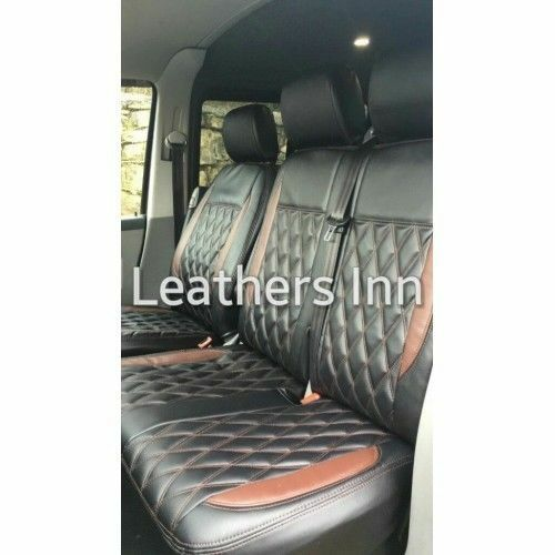 Single /& Double Leatherette Seat Covers Discounted 2004-2015 VW TRANSPORTER T5
