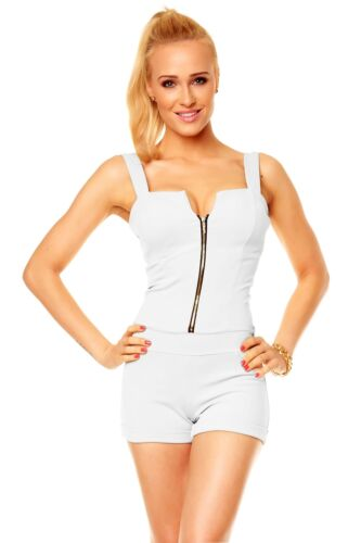 Overall Jumpsuit Party Estate Onepiece Tempo Libero XS 34 ZIP STRETCH