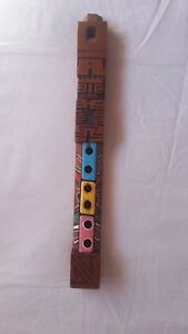 African Flute Music Wooden Musical Instrument Vintage Ethnic Handwork Gift wood