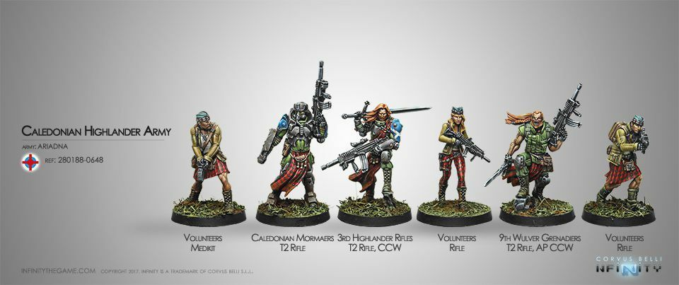 Infinity Ariadna Caledonian Highlander Army Sectorial Corvus Belli Inf 280188
