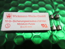 Quick Acting Glass fuse 4A 4 Amp 250v 240v 5 x 20 mm  Miniature. 1 Box Of 10. UK
