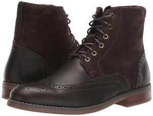 Rockport-Mens-Colden-Wingtip-Lace-Up-Side-Zip-Casual-Dress-Ankle-Boots-Ch5610
