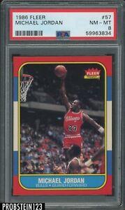 """1986 Fleer Basketball #57 Michael Jordan RC Rookie HOF PSA 8 """" PACK FRESH """""""