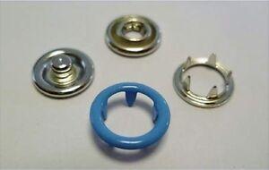 360 Jersey Druckknöpfe 9,5mm blau, rostfrei, für dünne Stoffe und Textilien