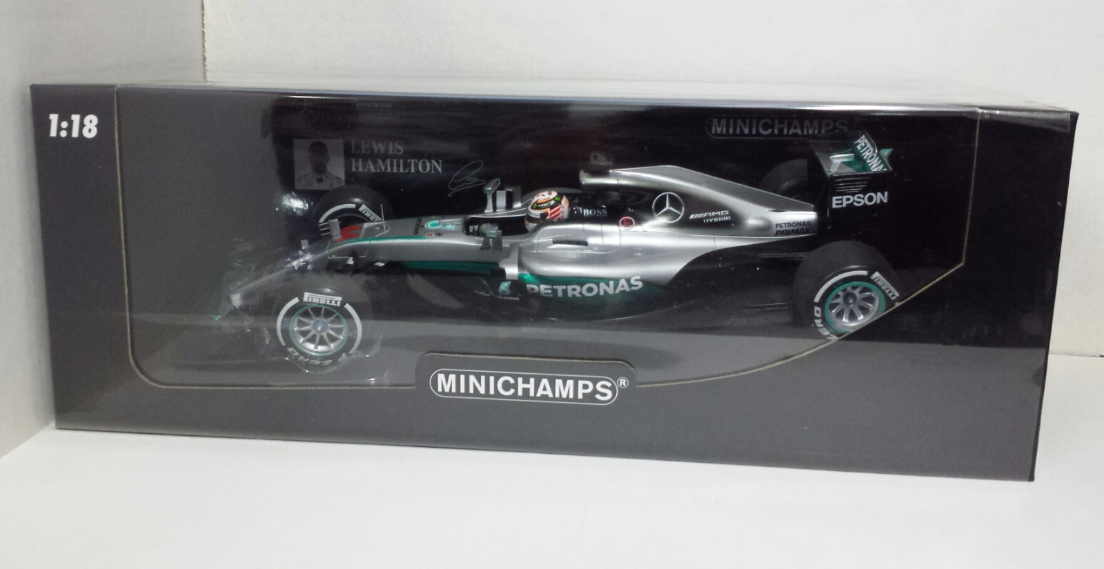 MINICHAMPS LEWIS HAMILTON 1 18 MODELLINO MERCEDES F1 W07 GP AUSTRALIA 2016 NEW