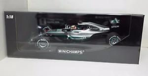 Minichamps Lewis Hamilton 1 18 Model Mercedes F1 W07 Gp Australia 2016 New