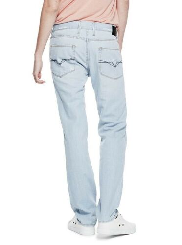 Guess Men's Max Slim Straight Jeans Electric Worn Wash Size 30X30