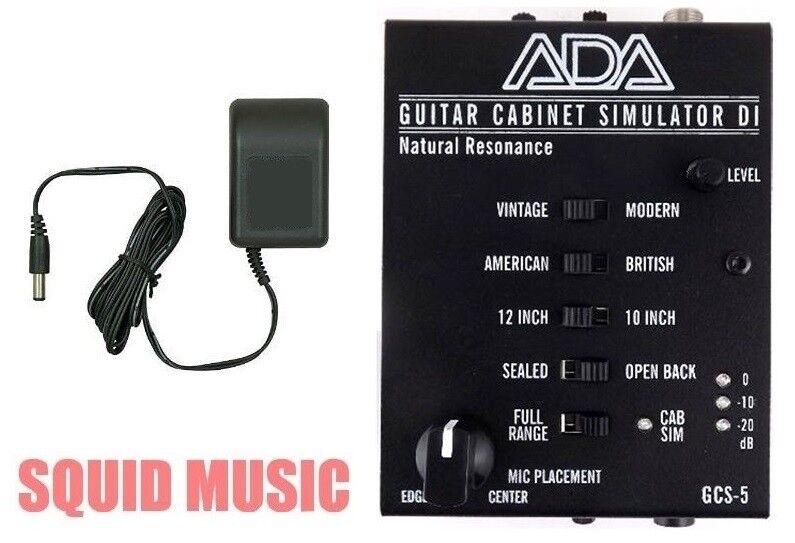 ADA GCS-5 Guitar Cabinet Simulator   DI & AC Adapter 120V Power Supply USA Made