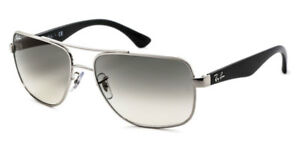 ba58cad567 NEW Authentic RAY-BAN Silver Black Grey Gradient Sunglasses RB ...