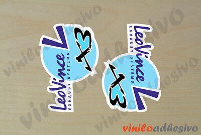 Pegatina Sticker Vinilo Leovince X3 Leo Vince Exhaust Autocollant Aufkleber