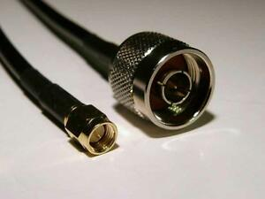 N-male-SMA-male-extension-lead-cable-H155PE-Low-Loss-3-meters-B593-B5172-B683