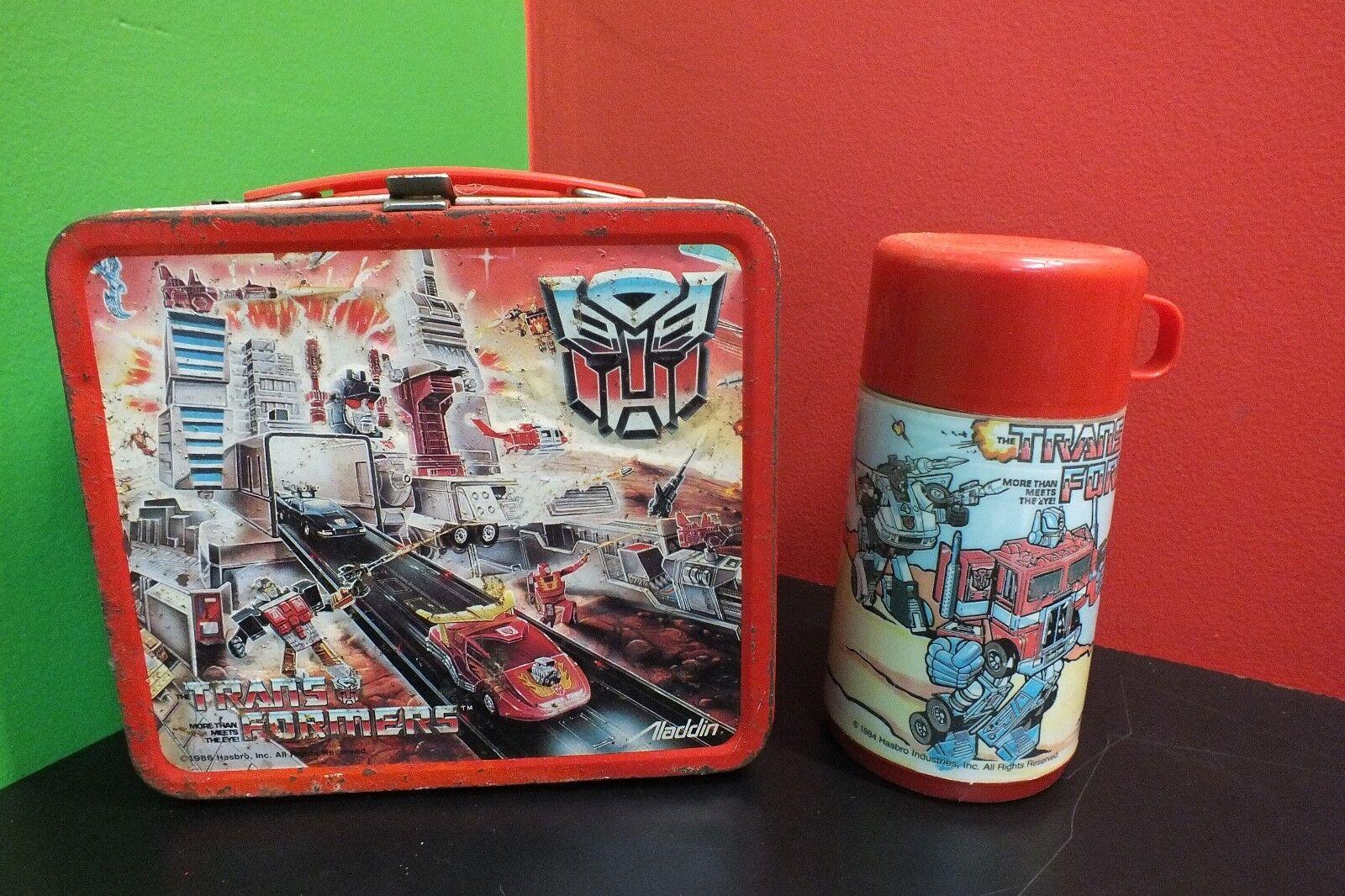 518f0bfcfbb2 WITH Box Lunch Tin 1988 THERMOS) Transformers Aladdin ywjfb6bb56468 ...