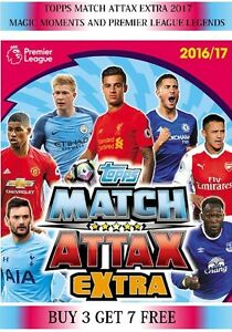 Topps-Match-Attax-Extra-2017-Choose-your-Magic-Moments-amp-Premier-League-Legends