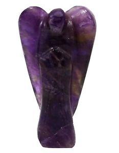 Amethyst Stone Carved Reiki Angel Psychic Guardian Gemstone Spiritual Gift