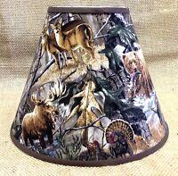8 X 14 X 11 Camo Bear Deer Center Animal Varies Lampshade Lamp Shade
