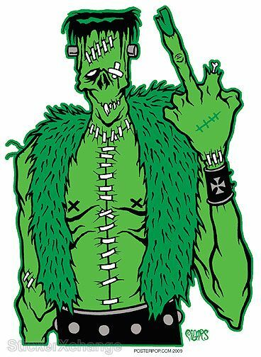 Fu Frankee Sticker Decal Artist Eric Pigors PG23 Frankenstein