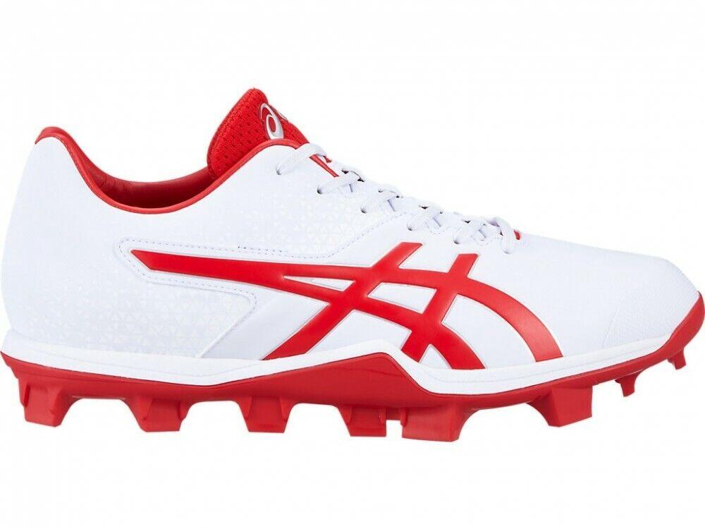 Zapatillas Asics De Béisbol Stud Spike Japón velocidad 1121A015 blancoo Rojo