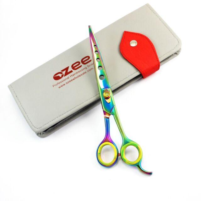 "8"" Professional Pet Dog Grooming Scissors Straight Blade Shears Scissors Kit"