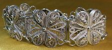 Vintage Antique Sterling Silver Fine Filigree Ladies Bracelet- Over 21 Grams