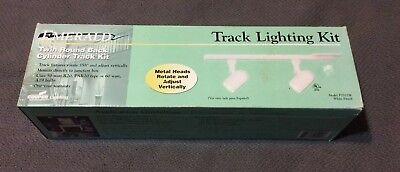 Emerald 2/' Track Lighting Kit P2512W with 2 Roundback Light Fixtures White