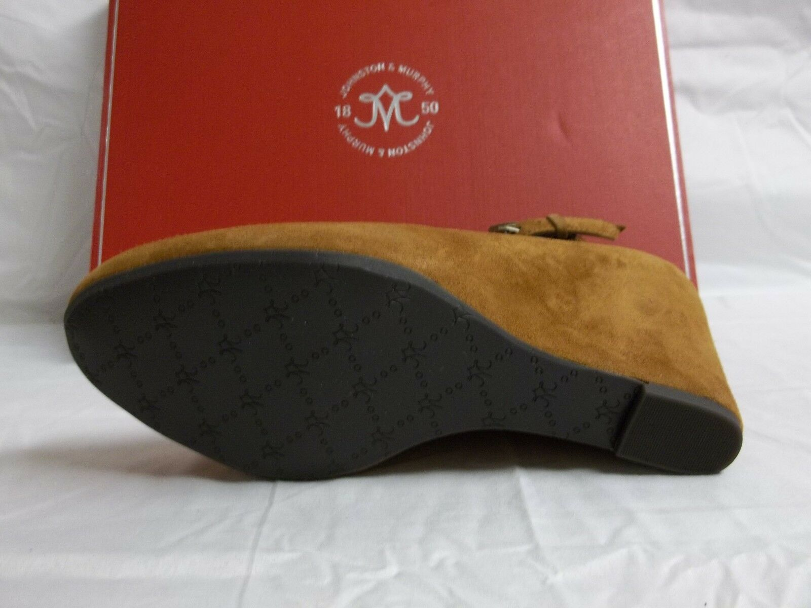 Johnston & Murphy 6.5 M Tracey Amber Amber Amber Suede Ankle Strap Wedges New Damenschuhe Schuhes 16c282