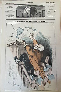 Tantalum-Thiers-Caricature-Gill-Journal-Satirical-L-039-Eclipse-No-No-223-of-1873