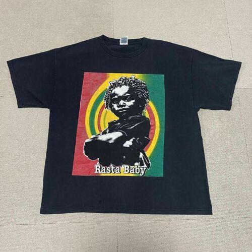 Rare Design Singer Bob Marley Reggae Rasta T-shirt 2000s