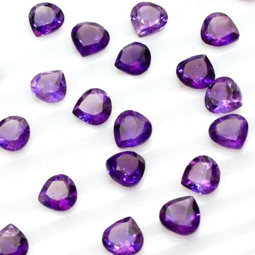 Wholesale Lot 7mm Pear Cut Natural African Amethyst Loose Calibrated Gemstone