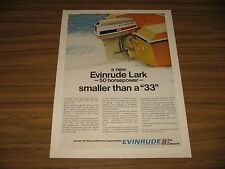 1970 Print Ad Evinrude Lark 50 HP Outboard Motors Milwaukee,WI