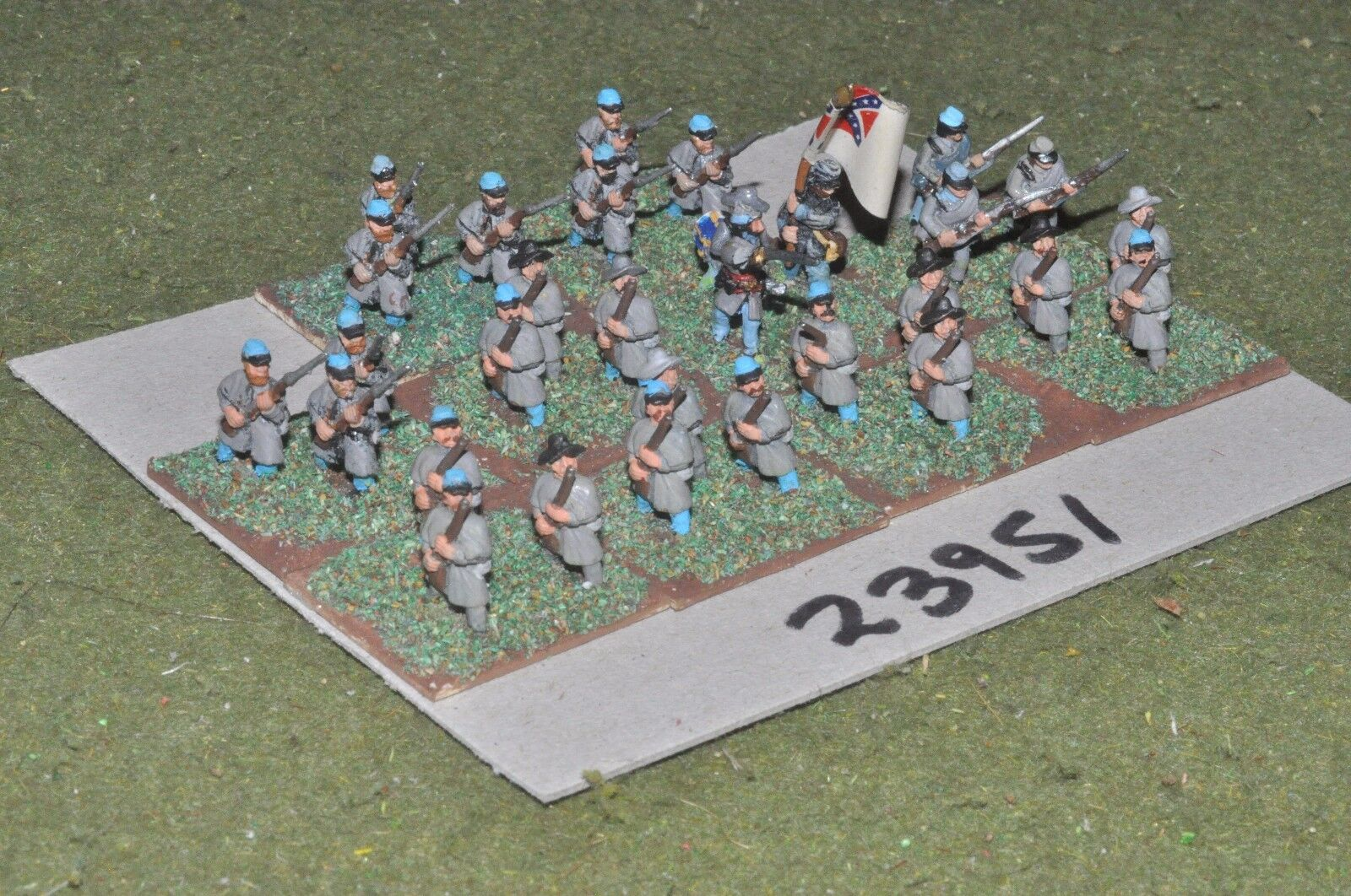 15mm ACW   confederate - regiment 30 figures - inf (23951)