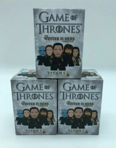"Lot de 3 TITANS GAME of THRONES Blind Box hiver est ici 3/"" vinyle collection"
