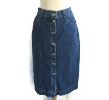 Denim Button Front Skirt Glamorous Tall Size 12 UK Blue NWT Bellow Knee Jean