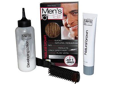 Dark Brown Hair Dye For Men Hide Cover Grey Hair Colour Lotion Just 1 Minute