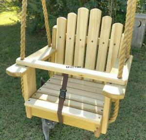 Wood Tree Swings Sunburst Poplar Seat Rope Swing Wooden Tree Swing
