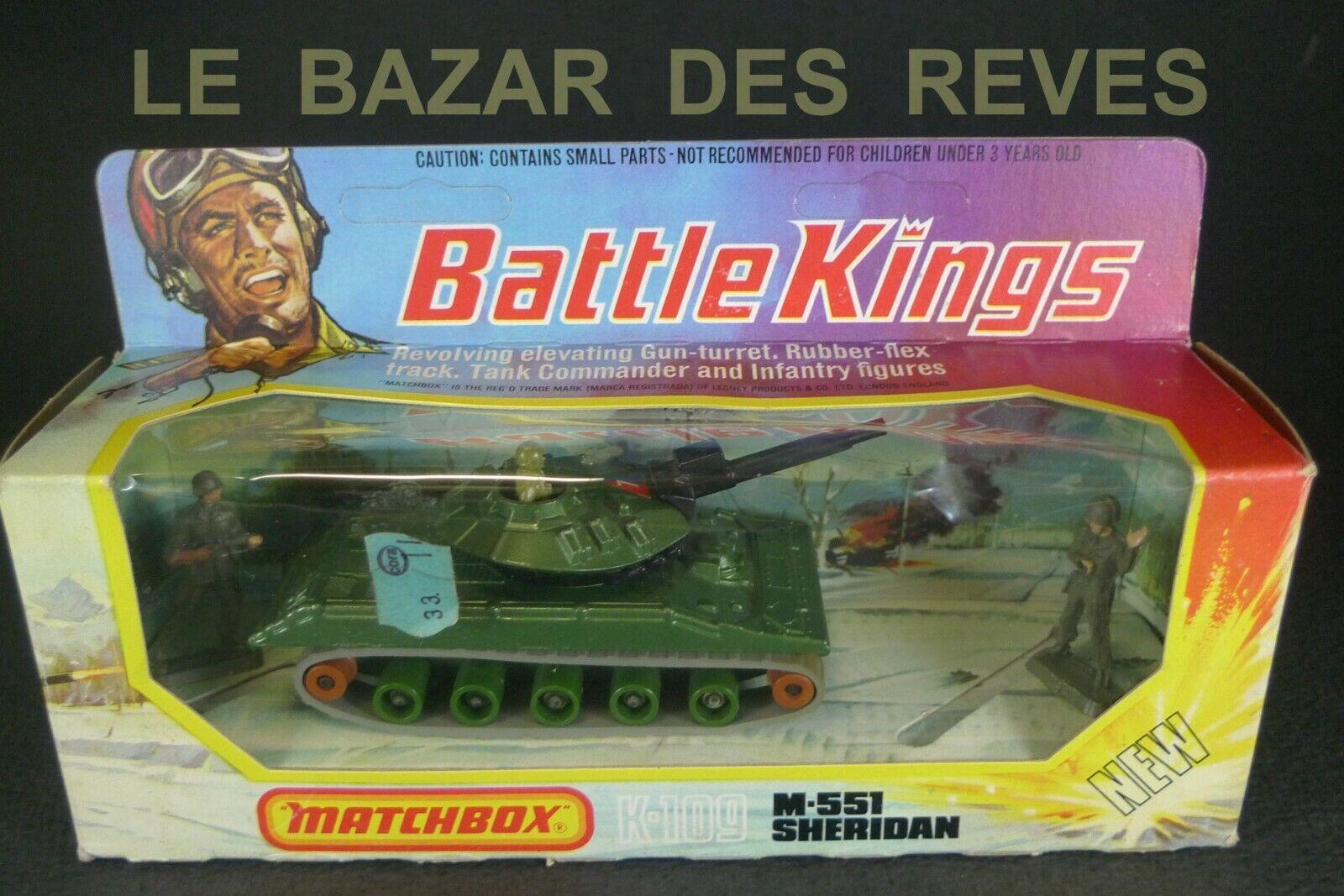 MATCHBOX.  BATTLE KINGS. Char SHERIDAN. + boite   REF. K 109.