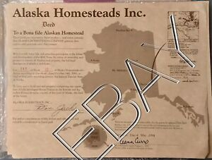 Deed To Alaskan Homestead In McCarthy Alaska —Great ...