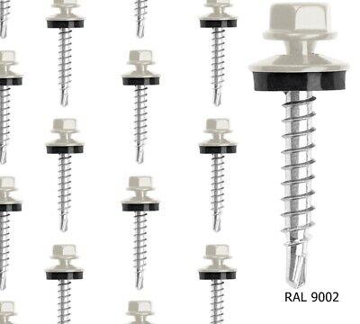 Trapezblech Schrauben Blech /& Stahlkonstruktion 4,8 x 19 mm RAL8004 250 Stück