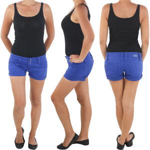 Hot-Pants-Hotpants-Jeans-Shorts-Kurze-Hose-Capri-Hueft-Stretch-Sommerhose-333b