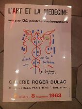 Jean Cocteau Affiche l'Art et la Médecine vus par 24 peintres contemporains