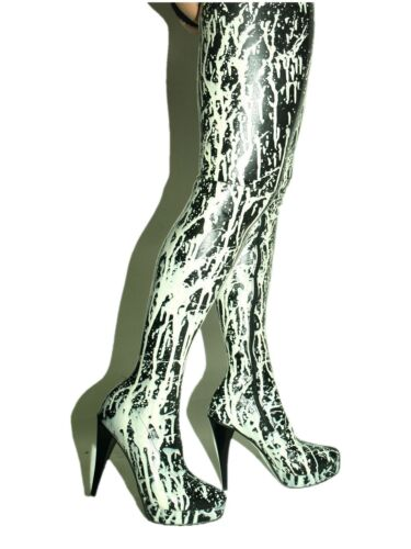 5 Highs 5 Stivali Highs 16 Heels Promotions 5 Rubber 5 5 Heels Latex Rubber Boots 5 Latex Size Taglia Promozioni 16 gq4zw