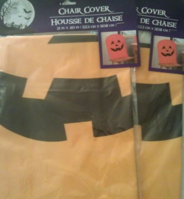 Marvelous Pumpkin Jack O Lantern Halloween Orange Chair Covers 21 X 20 Set Of 4 Caraccident5 Cool Chair Designs And Ideas Caraccident5Info