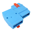 4pcs 100*70*25mm blue plastic din rail box power supply junction box project box