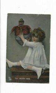 """""""The Bogey-Man"""" - Tuck's Vintage postcard - Posted - 1909"""