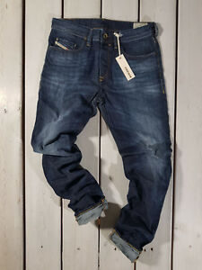 Rrp-220-Nuovo-Jeans-Diesel-Uomo-Buster-0831Q-Regular-Slim-Tapered-Acido-Lavato