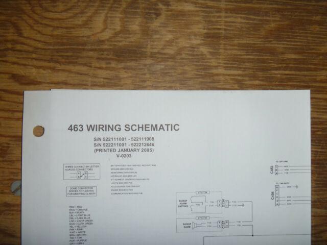 Bobcat 463 Skid Steer Electrical Wiring Diagram Schematic