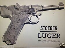 Stoeger Luger .22 Instruction Booklet & Service Manual On CD in easy to use .pdf