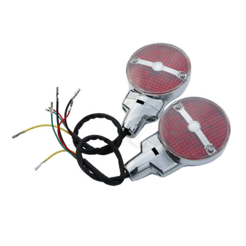 Bar /& Shield Rear LED Turn Signals Fit For Harley Electra Glide Road King 01-17