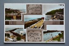 R&L Postcard:  Greetings from Ryde IOW, Steam Train/Priory Bay/Canoe Lake